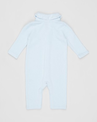 Polo Ralph Lauren ICONIC EXCLUSIVE   French Rib One Piece Coveralls   Babies - Longsleeve Rompers (Blue)