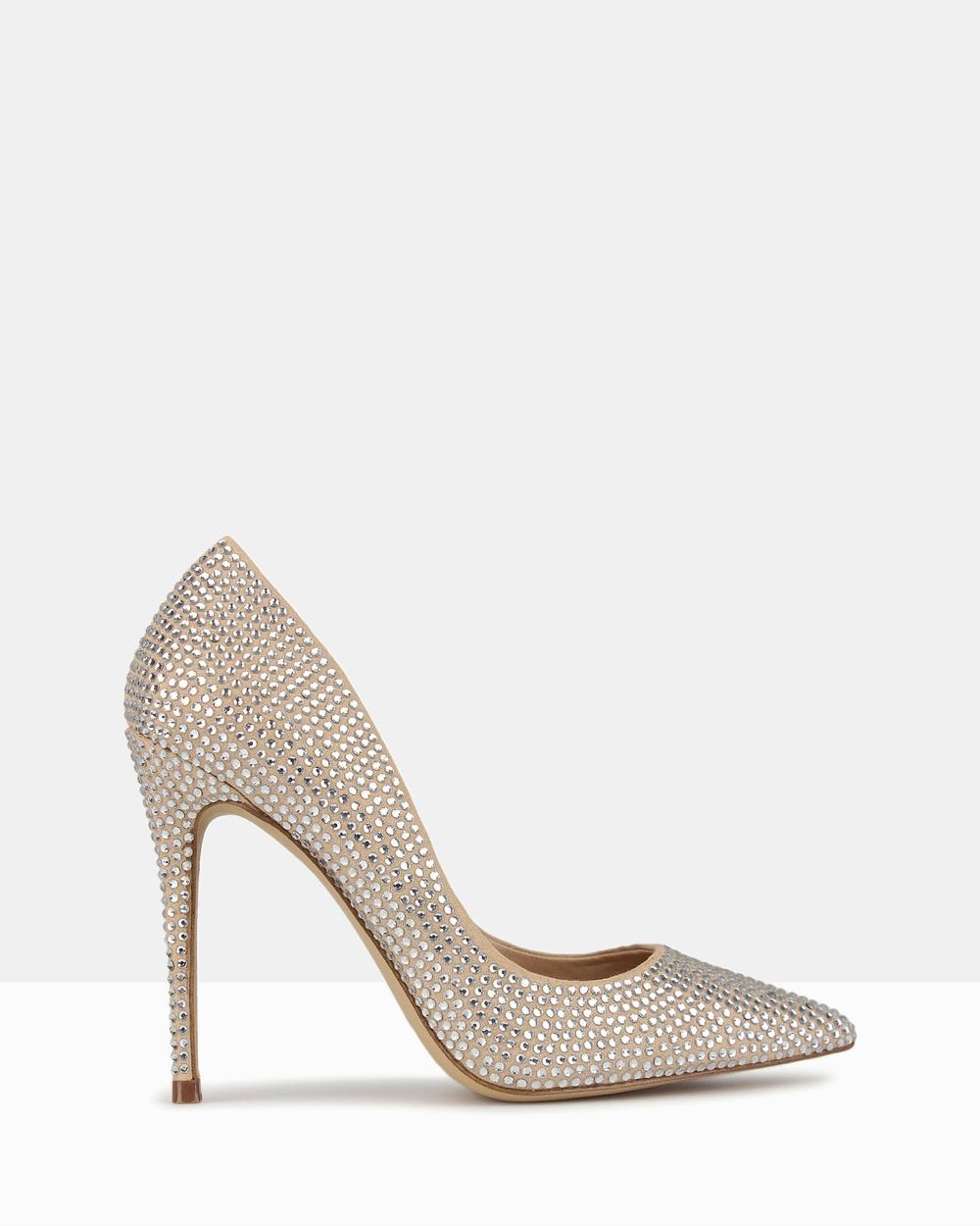 Betts Blossom 2 Diamante Stiletto Heels Heels Silver Diamante Blossom 2 Diamante Stiletto Heels