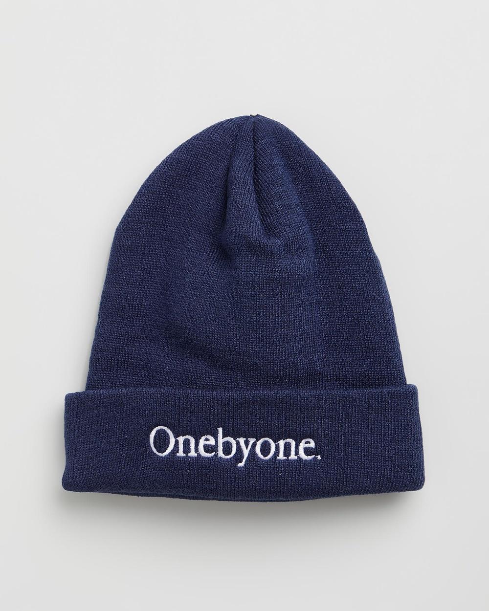 ONEBYONE Mariner Beanie Headwear Blue