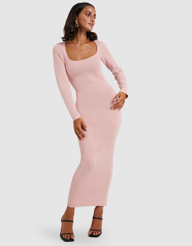 BY JOHNNY. - Tina Twist Scoop Back Evening Knit Dress