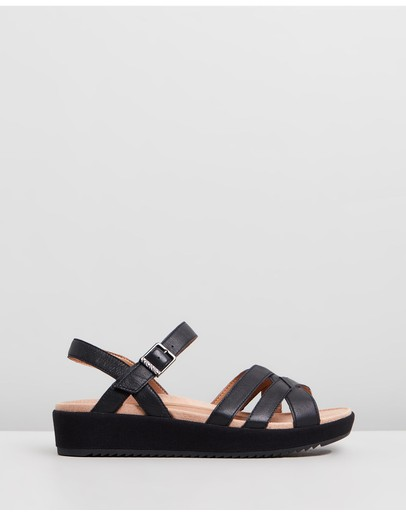 Vionic Violet Platform Sandals Black