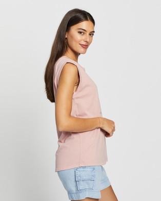 DRICOPER DENIM - Baggie Muscle Tee T-Shirts & Singlets (Dusty Pink )