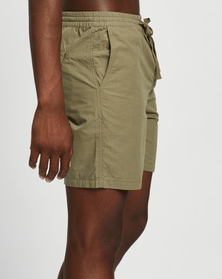 AERE Organic Cotton Poplin Swim Shorts Khaki