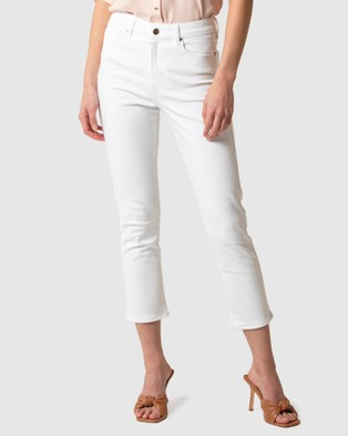 Forever New Isabel Mid Rise Straight Crop Jeans - Jeans (FLORENCE WHITE)