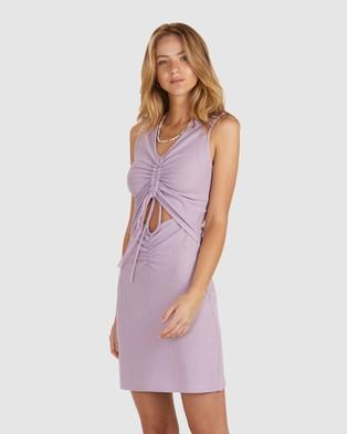 Chosen By Tuchuzy Penny Rouched Mini Dress - Dresses (Purple)