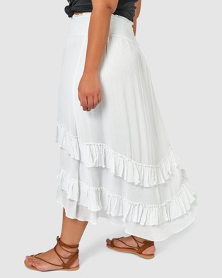 The Poetic Gypsy Byron Maxi Skirt - Skirts (WHITE)