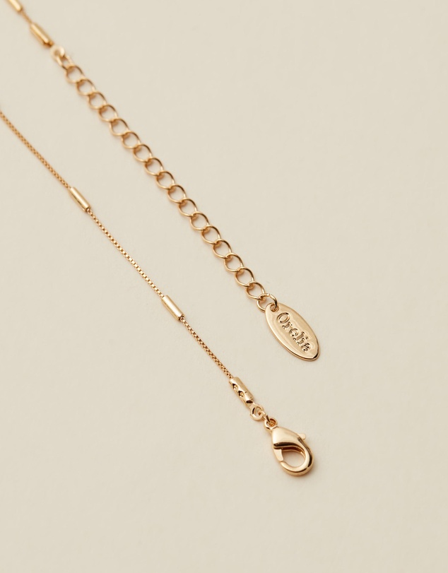 Women Fine Link Bar Chain Necklace