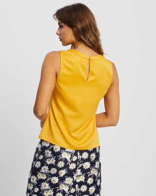 Review Mia Top - Tops (Mustard)