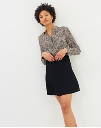 J.Crew - Logie Fit-and-Flare Mini Skirt