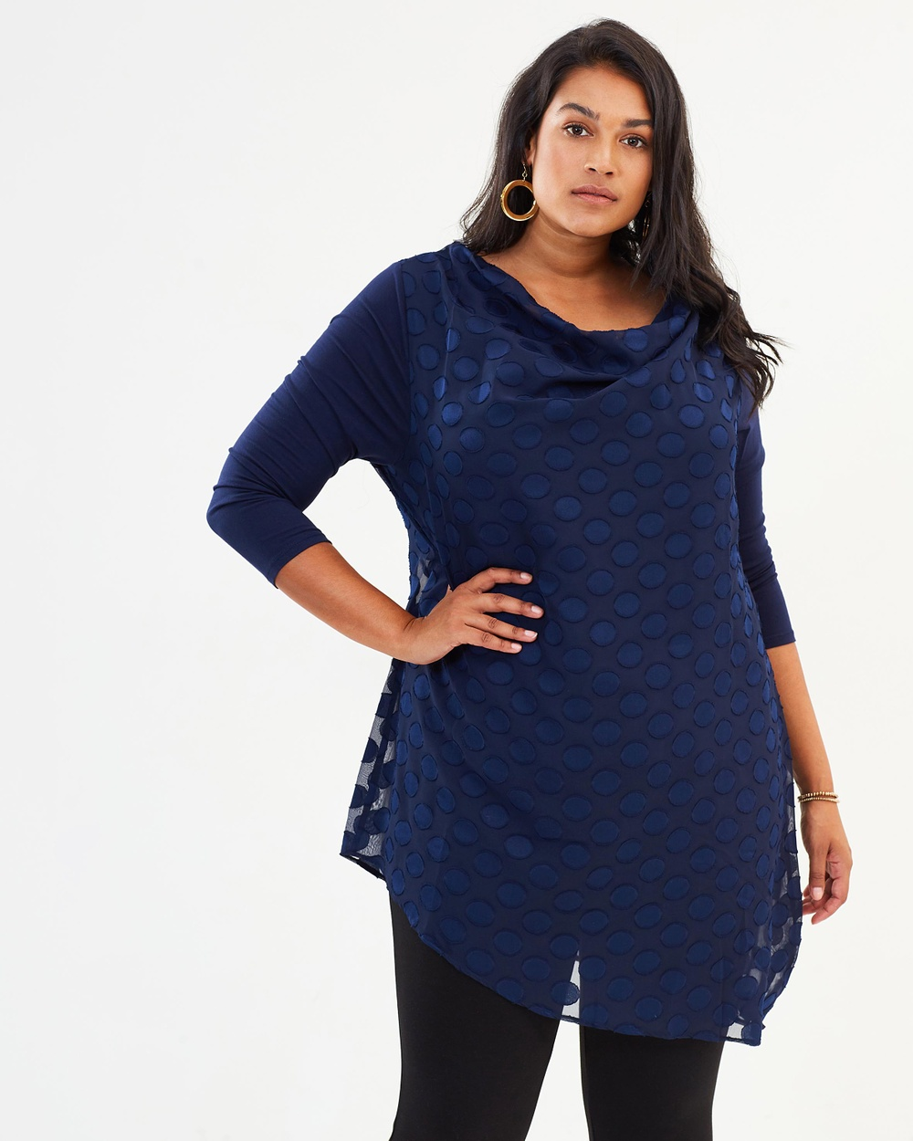 Studio 8 Nisha Spot Top Tops Navy Nisha Spot Top