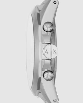 Armani Exchange - Silver Tone Chronograph Watch AX2646 Watches (Silver-Tone) Silver-Tone