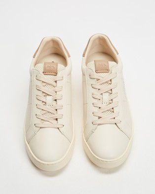 Coach - Lowline Leather Sneakers (Chalk & Taupe)