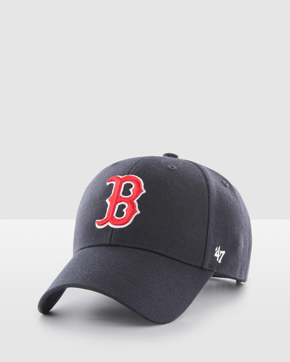 47 Boston Red Sox Navy '47 MVP Snapback Hats navy