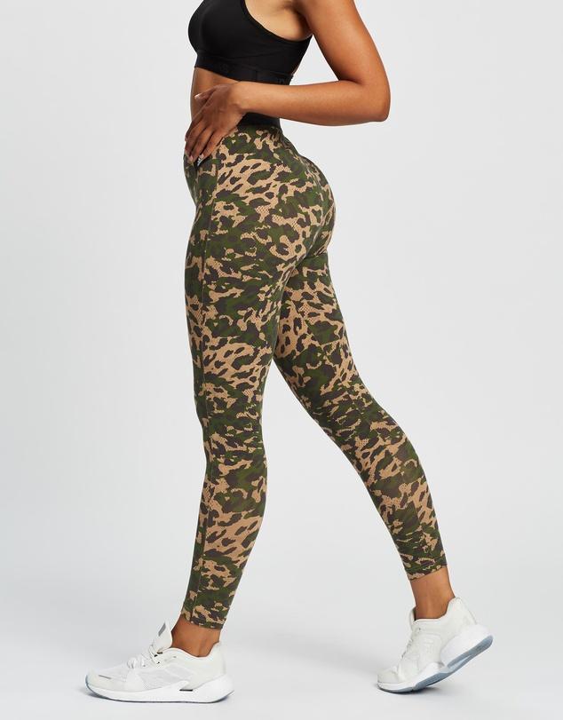 Women Sportswear Leopard Print Cotton Leggings