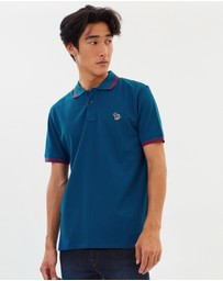 PS by Paul Smith - Zebra Logo Tipping Polo