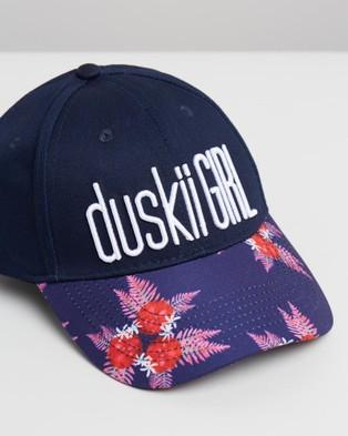 Duskii Mia Cap   Teens - Hats (Navy Floral)