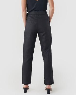 Amelius Azure Linen Pants - Pants (Black)