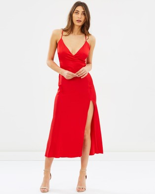 Bardot – Blair Wrap Dress Lava