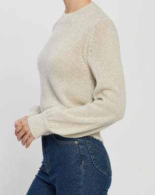 Rolla's Fluffy Gigi Sweater - Jumpers & Cardigans (Vintage White)