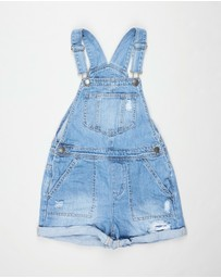 Free by Cotton On - Sophie Denim Shortalls - Teens