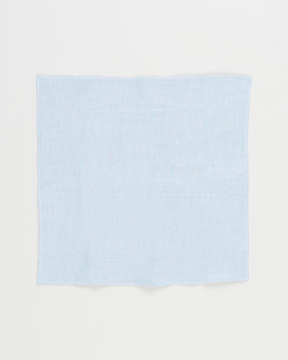AERE Pocket Square Squares Baby Blue