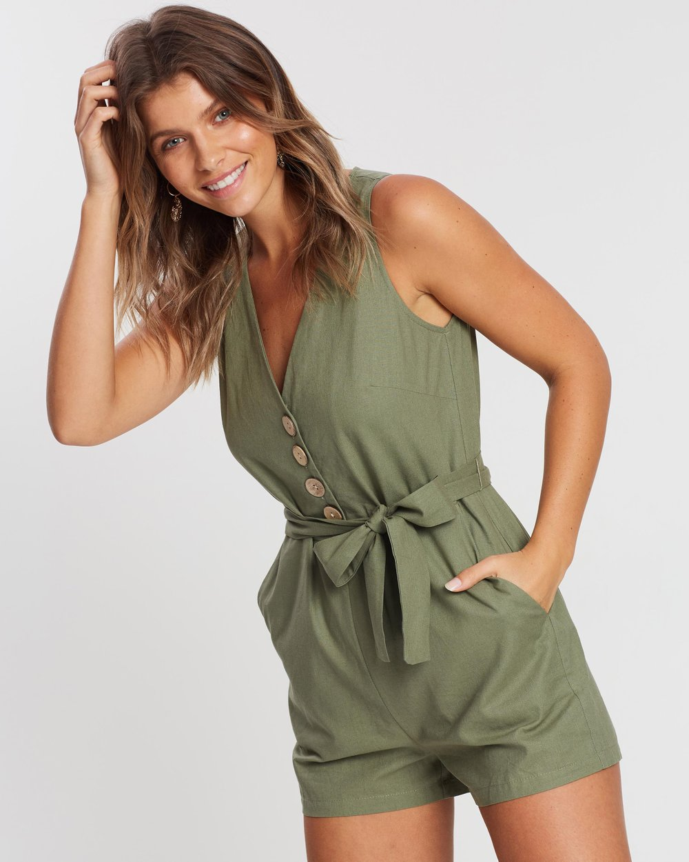 56f33982544 ICONIC EXCLUSIVE - Sandyha Playsuit by Atmos Here Online