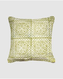 Bandhini Design - Kilim Repeat Sage Lounge Cushion