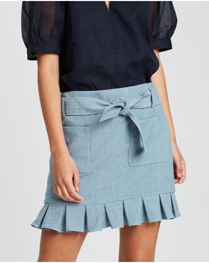 White Story Como Mini Pleated Skirt Cloud
