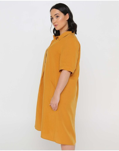 Advocado Plus Safari Shift Dress Desert