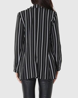 Amelius Mila Stripe Jacket - Blazers (Black/White)