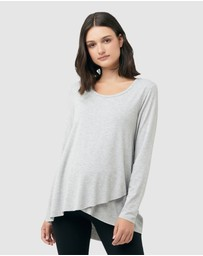 Ripe Maternity - Raw Edge Nursing Top