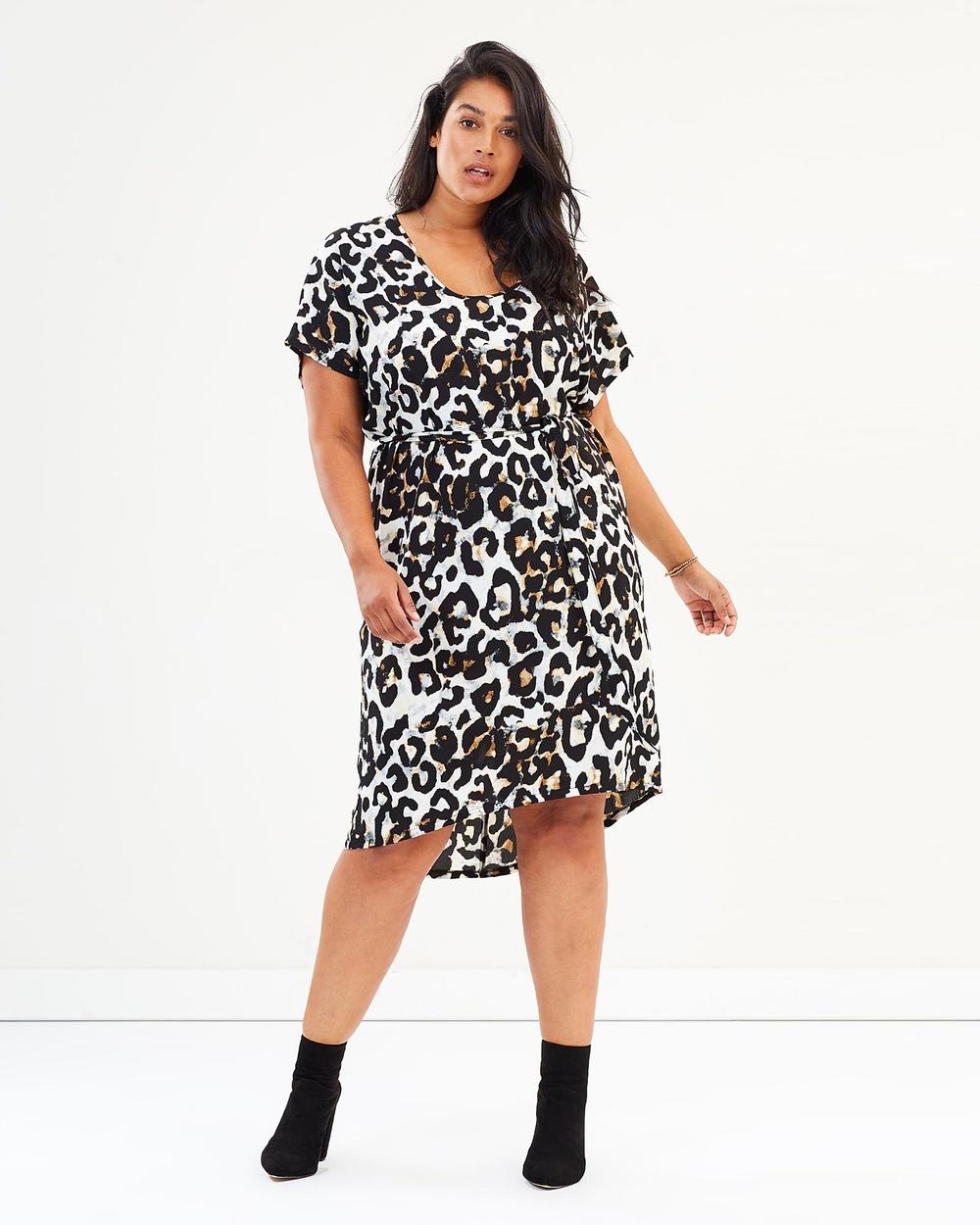 Harlow Leopard Raw Power Shift Dress