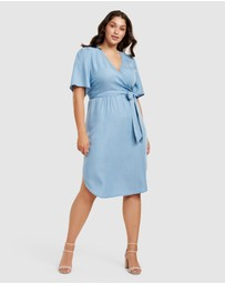 Forever New Curve - Cassie Curve Wrap Over Midi Dress