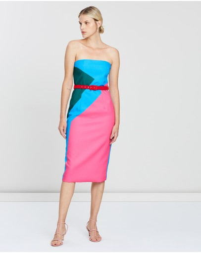 BY JOHNNY. - Johnny Blocks Strapless Dress