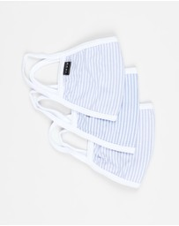 Icon Brand - Stripe Jersey Community Mask Set of 3