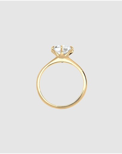 Elli Jewelry - Ring Swarovski® Crystal 925 Sterling Silver Gold Plated