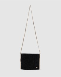 Olga Berg - Olympia Crystal Mesh Cross Body Bag