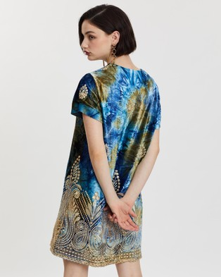 LENNI the label Geode Shift Dress - Printed Dresses (Lazuli Blue)