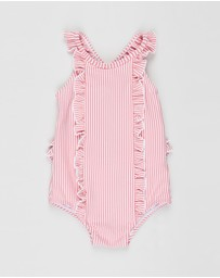 Bebe by Minihaha - Peony Stripe Swimsuit - Babies
