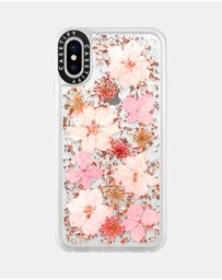 Casetify - Luxe Pressed Flower Phone Case for iPhone XS/ iPhone X  - Sakura