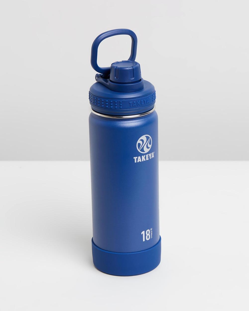 TAKEYA 530ml Insulated Stainless Steel Bottle 18oz Water Bottles Midnight