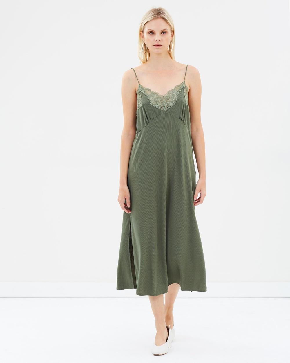 M.N.G Lency Dress Dresses Green Lency Dress