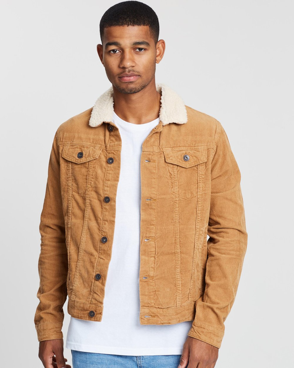 5214e8c4 Sherpa Collar Rodeo Jacket by Cotton On Online | THE ICONIC | Australia