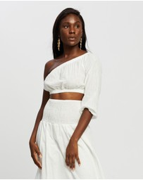 REVERSE - Linen-Look Midi Skirt and Top Set