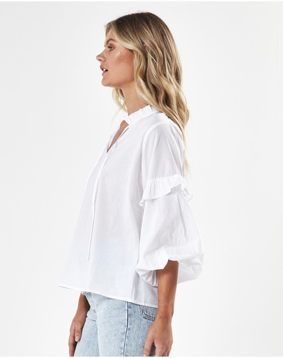 Charlie Holiday Daphne Blouse White