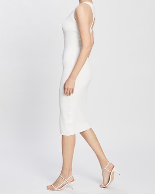 BY JOHNNY. Layered Loop Knit Dress - Bodycon Dresses (White)