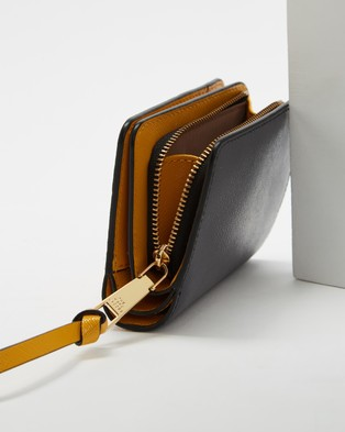 The Marc Jacobs Mini Compact Wallet - Wallets (Saddle Brown Multi)