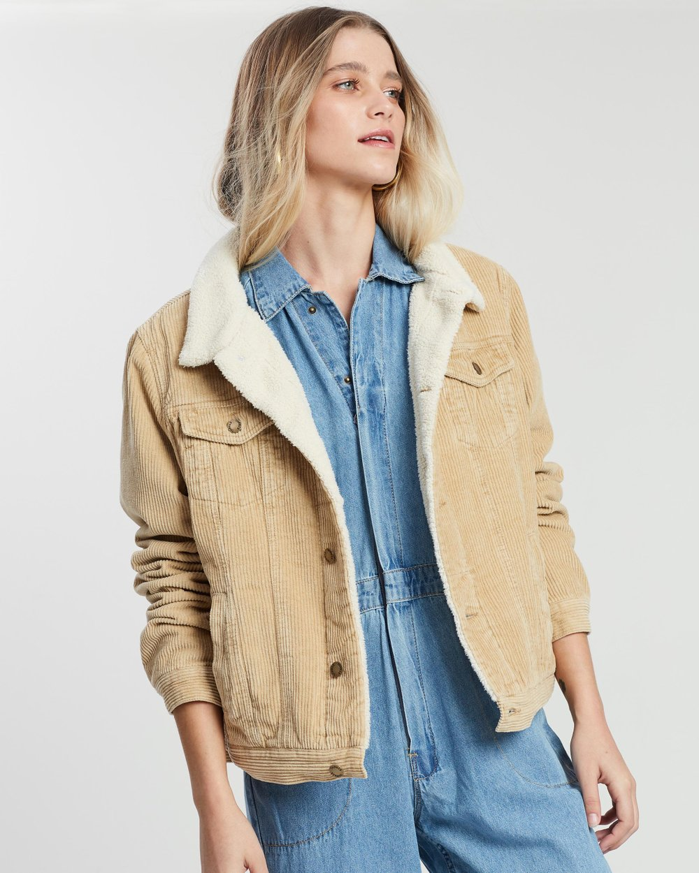 36b8e2dfb4d6 Bianca Cord Jacket by Thrills Online | THE ICONIC | Australia