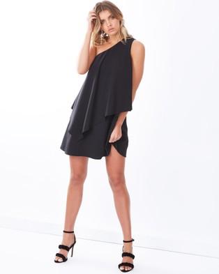 Tussah – Boston Asymmetric Dress – Dresses (Black)