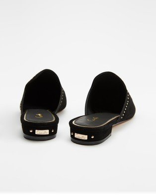 Camilla Embroidered Slippers - Flats (Dining Hall Darling)